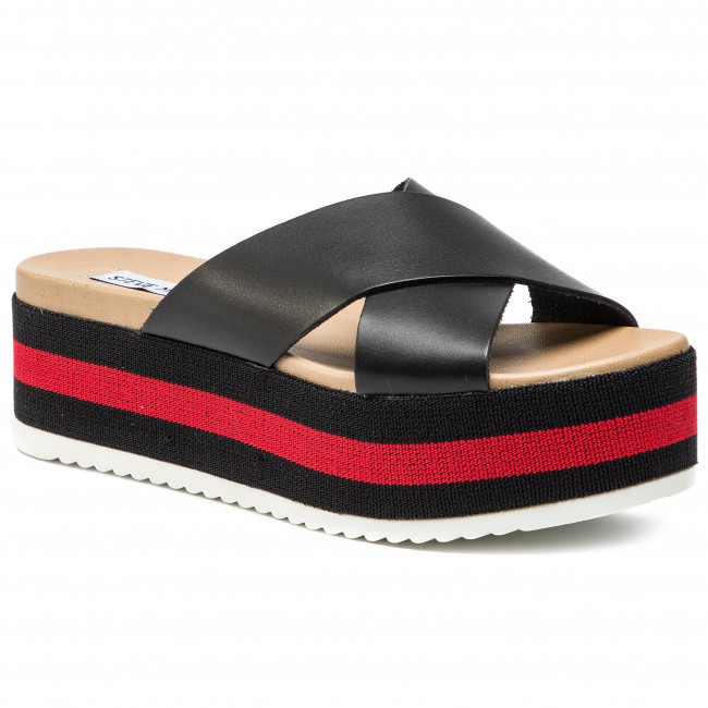 interior Contorno Complicado  Slides STEVE MADDEN - Asher SM11000450-03001-010 Black Multi - Wedges -  Mules and sandals - Women's shoes | efootwear.eu