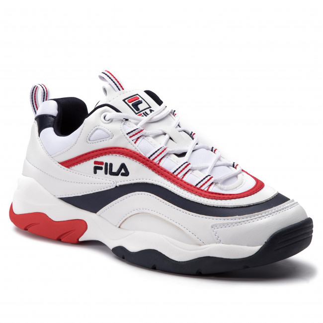 1010578 F Fila 01m Navyfila Ray Low Red Sneakers Whitefila 3ARj54L