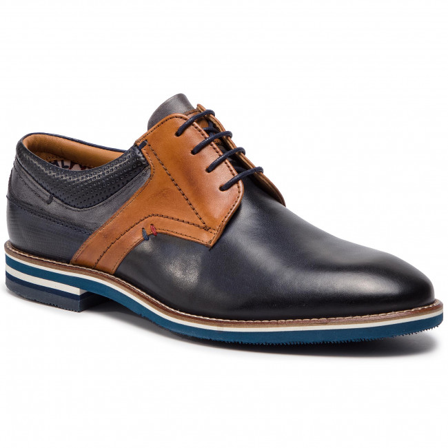 Shoes SALAMANDER - Vasco 31-57331-02 Navy/Cognac/Grey