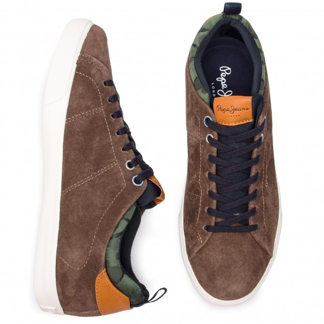 Sneakers PEPE JEANS - Marton Suede PMS30502 Stag 884 - Sneakers - Low shoes - Men's shoes