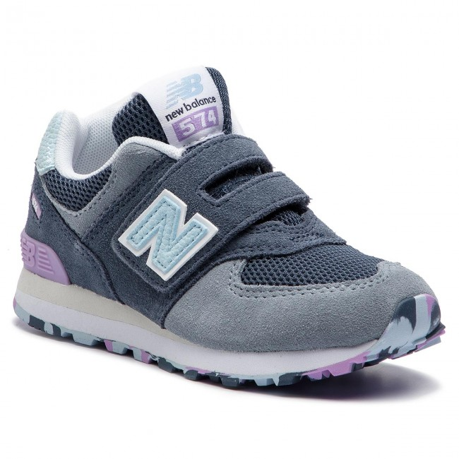 d70a979392d44 Sneakers NEW BALANCE - YV574UJA Grey - Velcro - Low shoes - Girl - Kids'  shoes - efootwear.eu