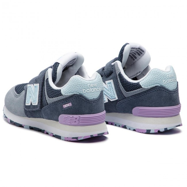3ed42df56d7ee Sneakers NEW BALANCE - YV574UJA Grey - Velcro - Low shoes - Girl ...