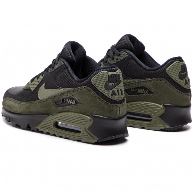 Shoes NIKE Air Max 90 Leather 302519 014 BlackMedium OliveSequoia