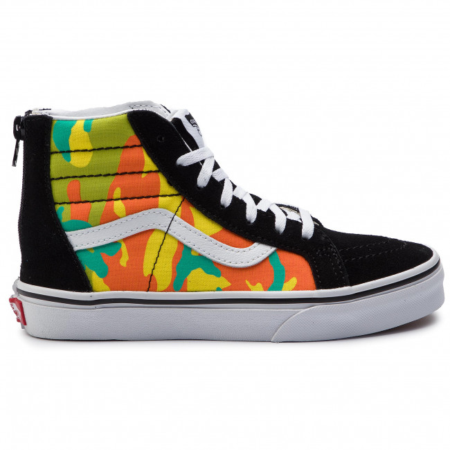 Sneakers VANS Sk8 Hi Zip VN0A3276VIJ1 (Pop Camo) Blazing Yellow