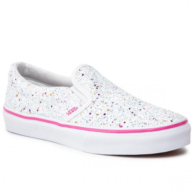 46909e11 Plimsolls VANS - Classic Slip-On VN0A32QIVI61 (Glitter Stars) True Whit -  Sneakers - Low shoes - Women's shoes - efootwear.eu