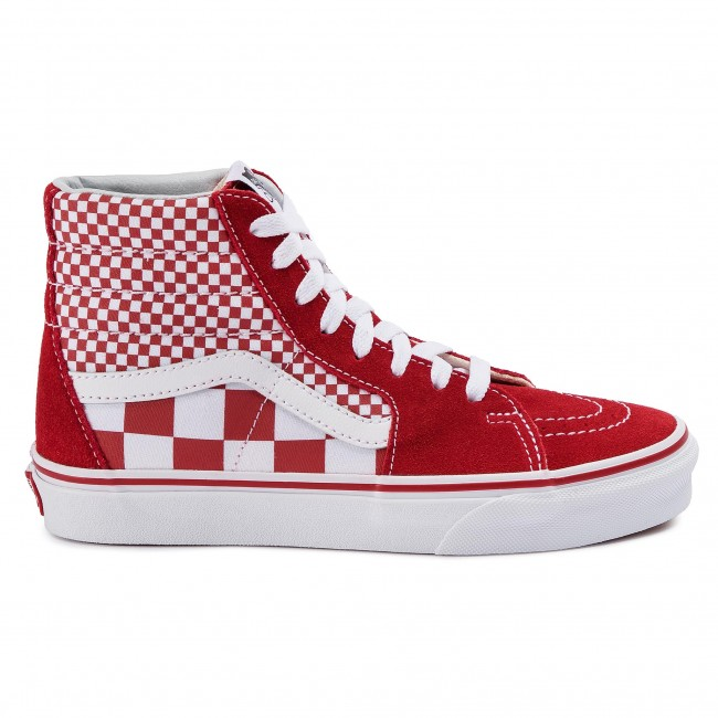 Sneakers VANS Sk8 Hi VN0A38GEVK51 (Mix Checker) CHili PepperTrue White