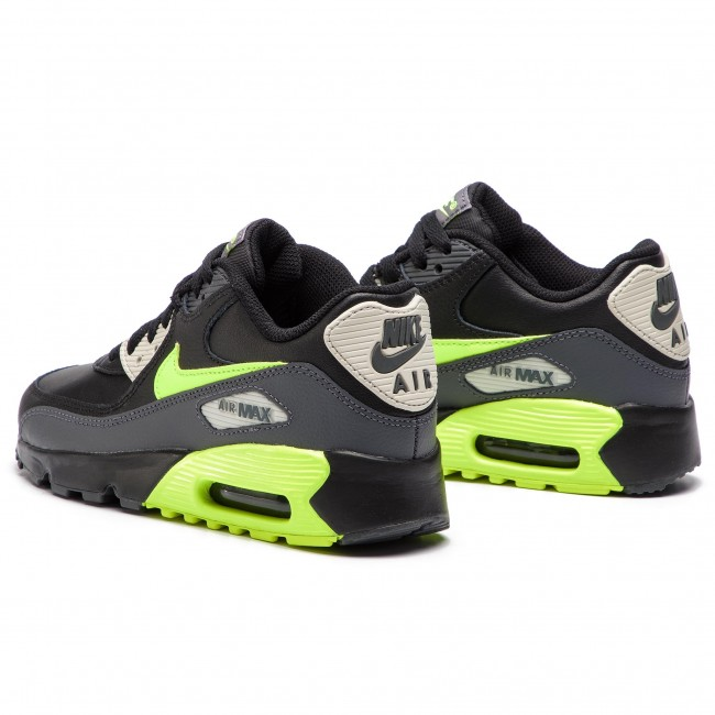 Shoes NIKE Air Max 90 Ltr (GS) 833412 023 Dark GreyVoltBlack