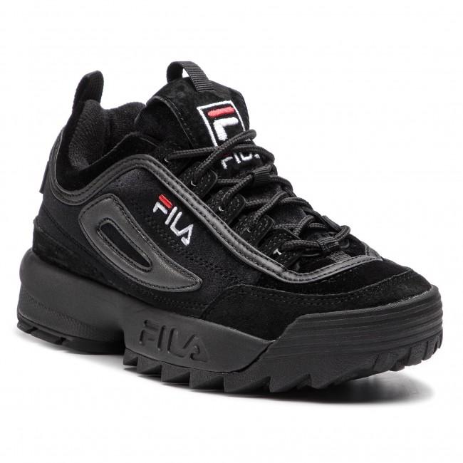 Wmn 1010440 12v Low Disruptor Blackblack Sneakers Fila V
