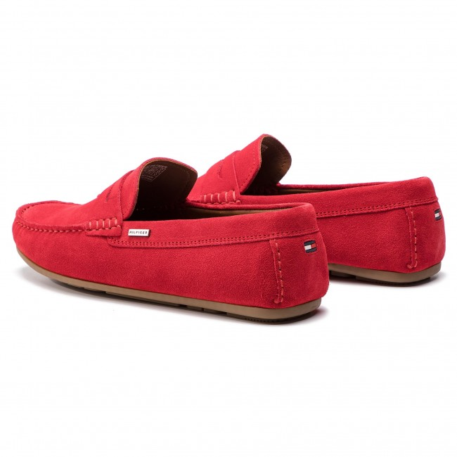 f4c0bf876d Moccasins TOMMY HILFIGER - Classic Suede Penny Loafer FM0FM02109 Tango Red  611