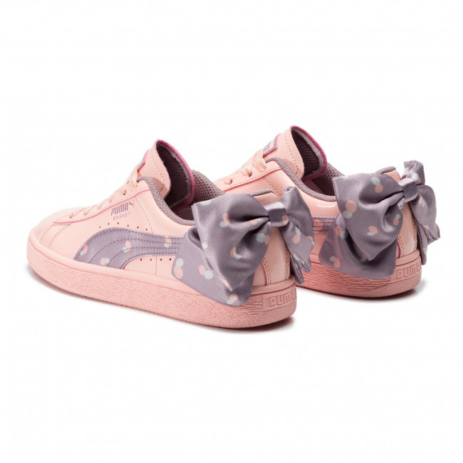 Sneakers PUMA - Basket Bow Dots Jr 368980 02 Peach Bud-Elderberry