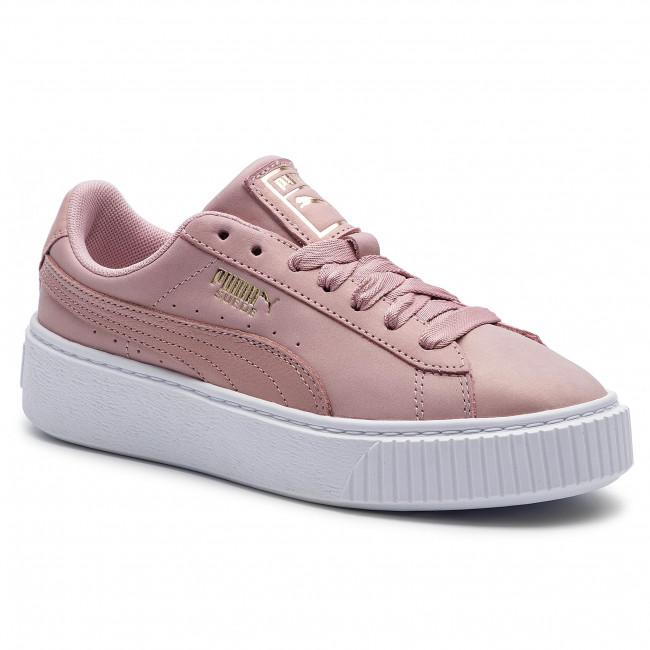 puma basket platform rosa gold
