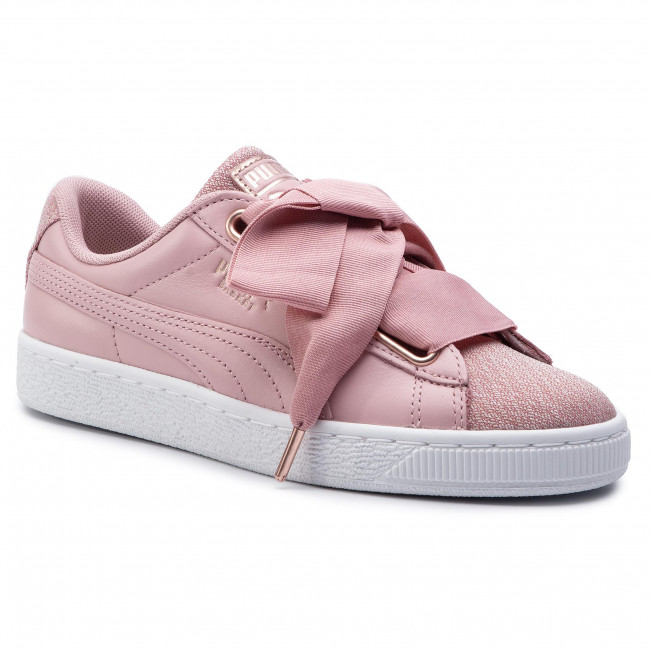 Sneakers PUMA Basket Heart Woven Rose Wns 369649 01 Bridal RosePuma White