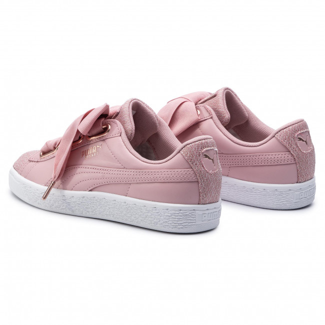 Sneakers PUMA Basket Heart Woven Rose Wns 369649 01 Bridal