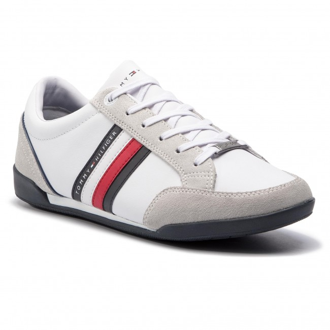 Sneakers TOMMY HILFIGER Corporate Material Mix Cupsole FM0FM02046 White 100