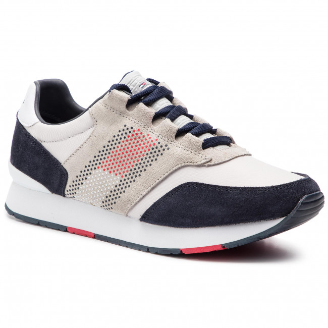 Sneakers TOMMY HILFIGER - Corporate Material Mix Runner FM0FM02056  Diamond Grey 001