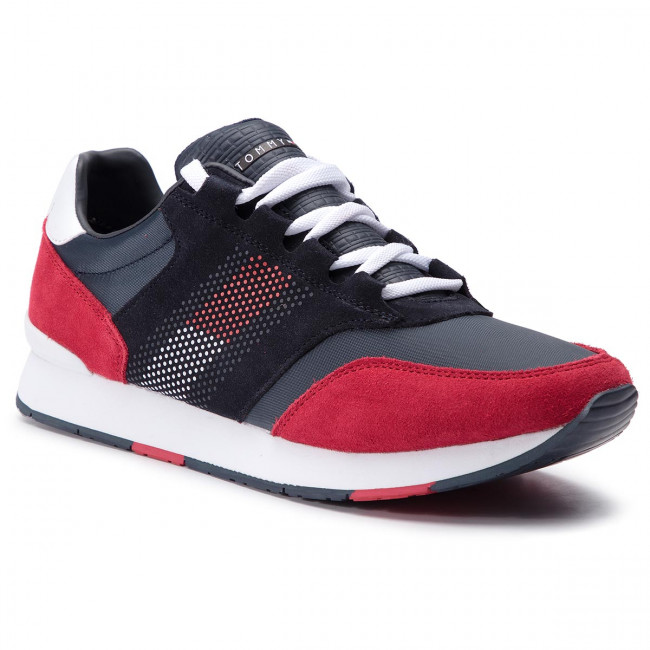 Sneakers TOMMY HILFIGER - Corporate Material Mix Runner FM0FM02056 Rwb 020