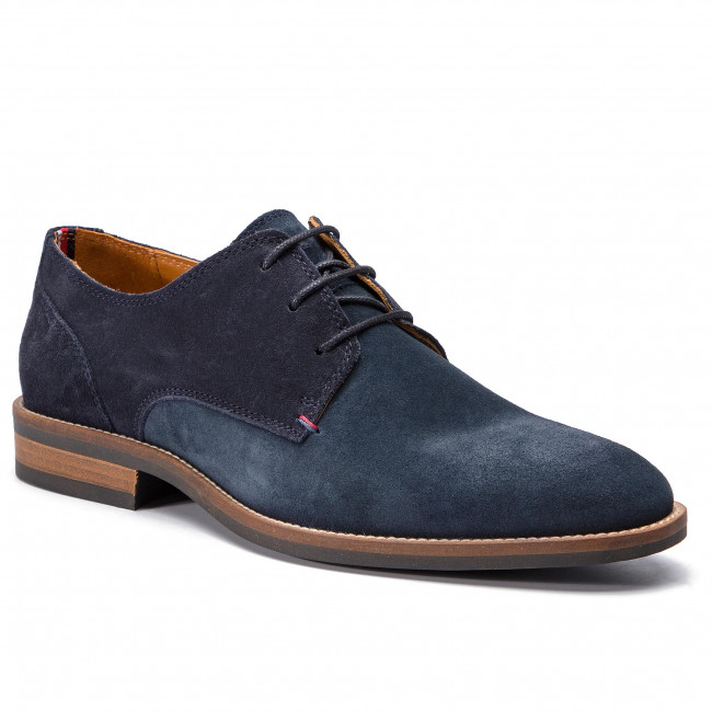Shoes TOMMY HILFIGER - Essential Suede Mix Shoe FM0FM02101  Midnight 403