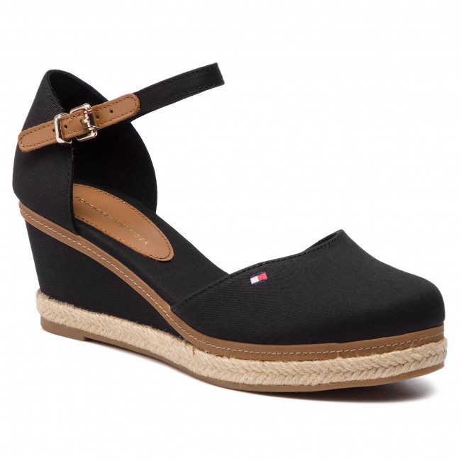 Espadrilles TOMMY HILFIGER - Iconic Elba Basic Closed Toe FW0FW02838  Black 990