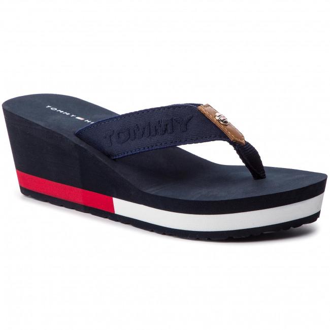 8802f559be8c Slides TOMMY HILFIGER - Flag Wedge Beach Sandal FW0FW03863 Rwb 020