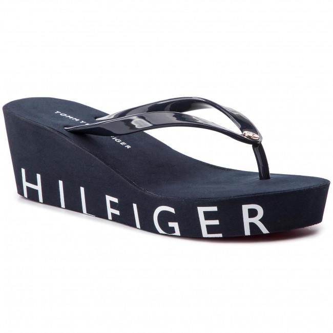 efe91580ae4e Slides TOMMY HILFIGER - Hilfiger Wedge Beach Sandal FW0FW04057 Midnight 403