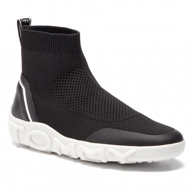 592525555fb Sneakers TOMMY HILFIGER - Mid Knit Sneaker FW0FW03778 Black 990