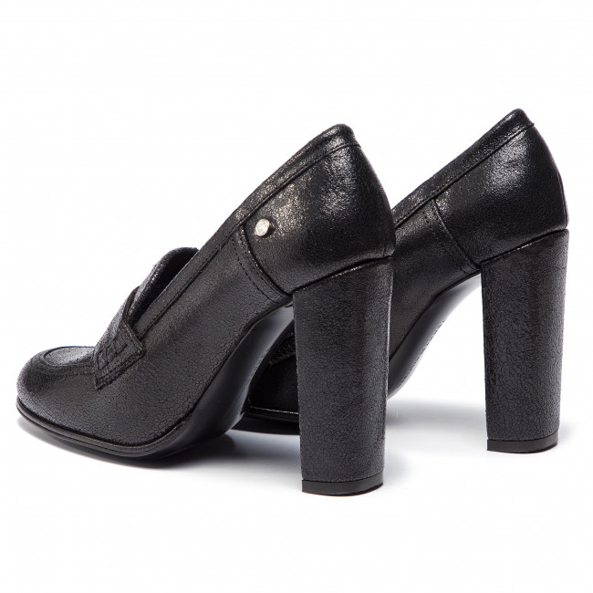 finest selection b4bc4 448c4 Shoes TOMMY HILFIGER - Crackle Metallic High Pump FW0FW04046 Black 990