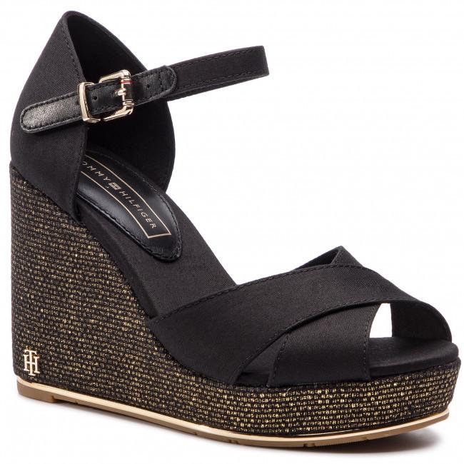 Espadrilles TOMMY HILFIGER - Feminine Wedge Sandal Basic FW0FW04078 Black 990