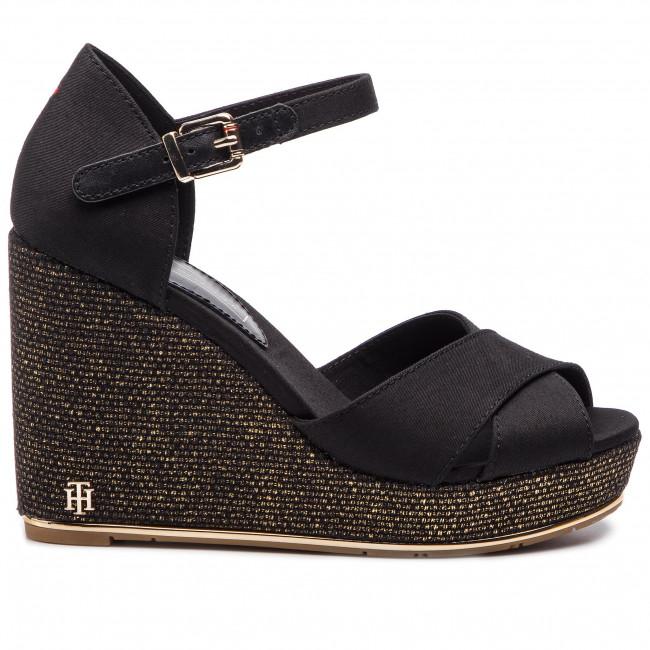 cb0c216b85a Espadrilles TOMMY HILFIGER - Feminine Wedge Sandal Basic FW0FW04078 Black  990