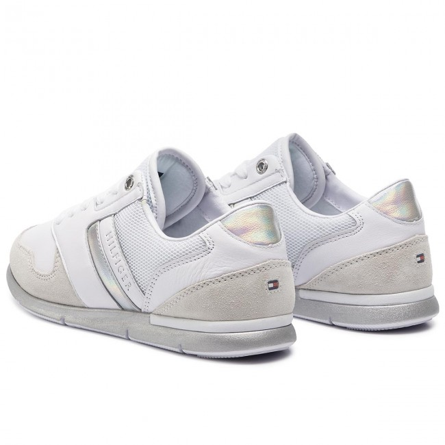Tommy Hilfiger White Iridescent Light Sneaker Low top