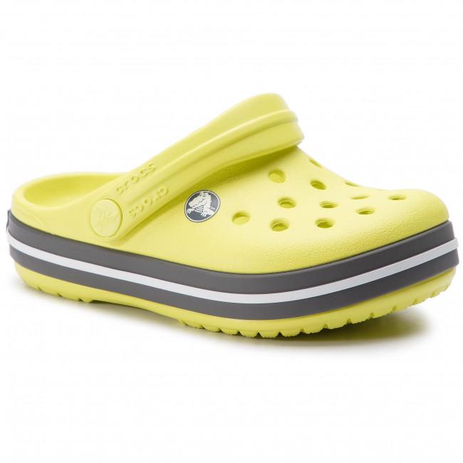 d34034073fcd3 Slides CROCS - Crocband Clog K 204537 Citrus/Slate Grey