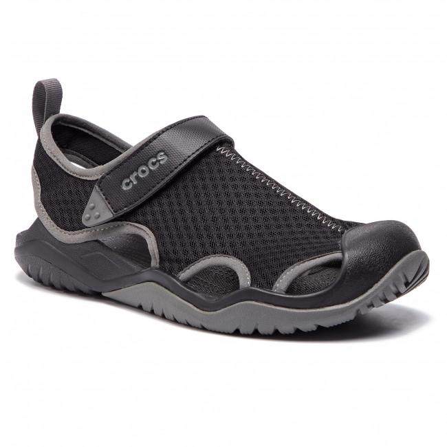 Sandals CROCS - Swiftwater Mesh Deck Sandal M 205289 Black