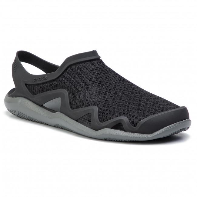 Sandals CROCS - Swiftwater Mesh Wave M 205701 Black/Slate Grey