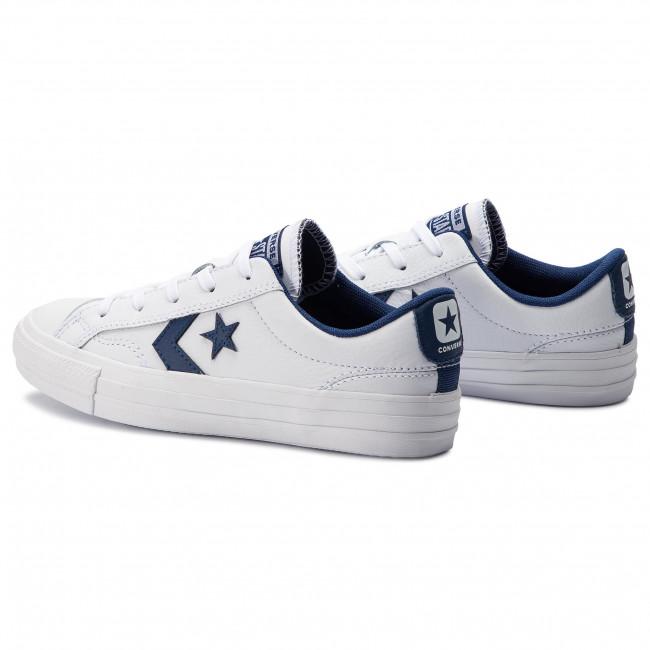 Converse Star Player Ox Navy White Schuhe Kaufen Online