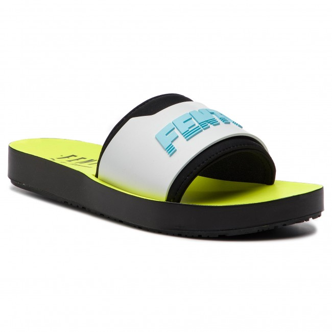 4da86471dcf10 Slides PUMA - Fenty Surf Slide Wns 367747 02 Fuma Black/White/Yellow