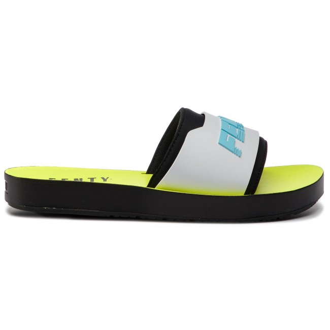 the best attitude 8bd15 fa7cc Slides PUMA - Fenty Surf Slide Wns 367747 02 Fuma Black/White/Yellow