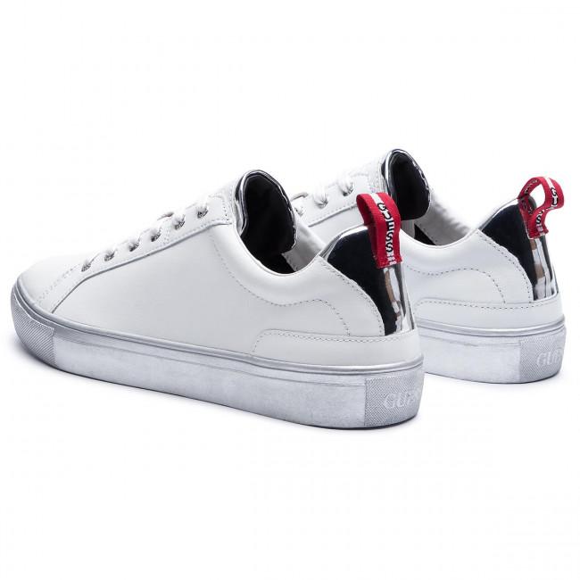 Sneakers GUESS Luiss Low H FM7LUI LEA12 WHITESILVER