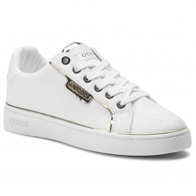 guess white leather sneakers