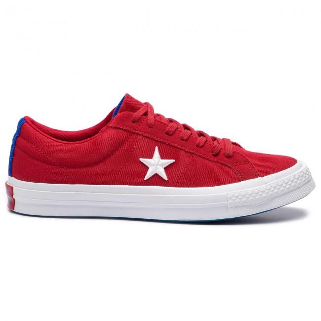 Plimsolls CONVERSE One Star Ox 160595C Gym RedWhiteHyper