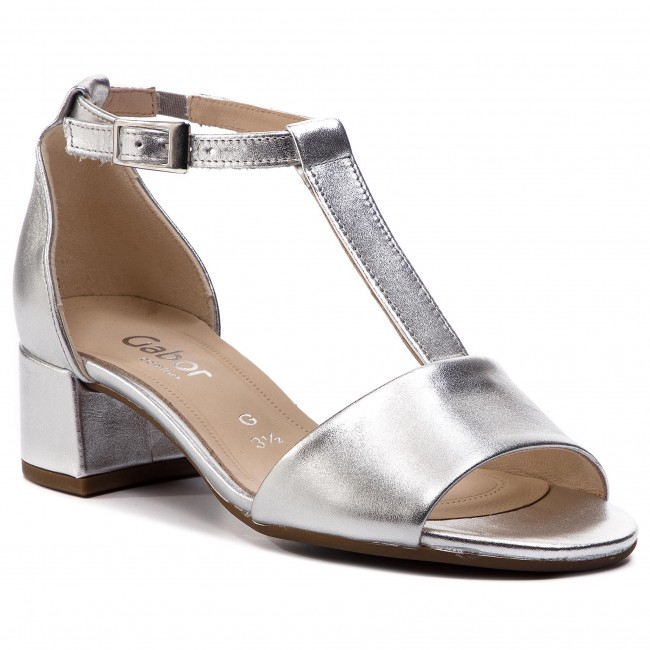 low priced d8628 f7468 Sandals GABOR - 82.903.10 Silber