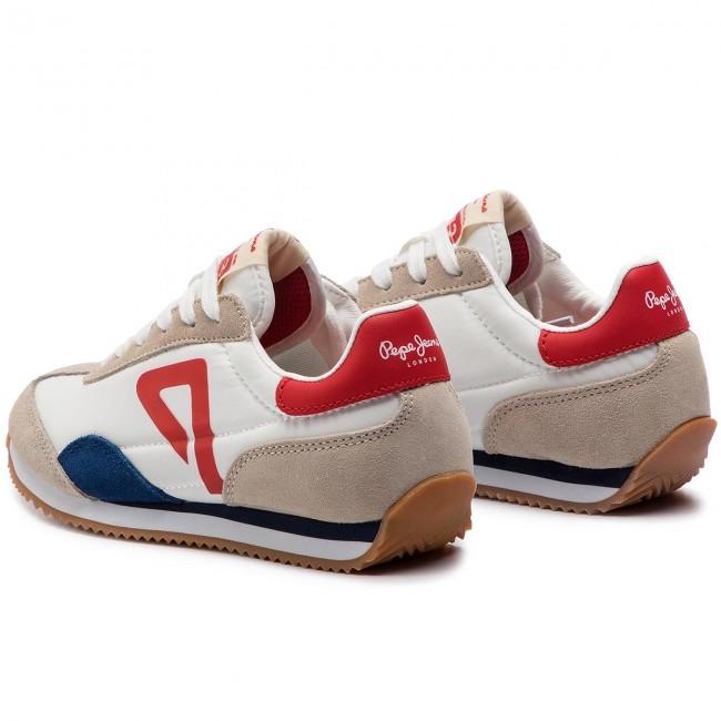 a7d7e70ffc739 Sneakers PEPE JEANS - Tahiti Retro Junior PBS30390 White 800 - Laced ...