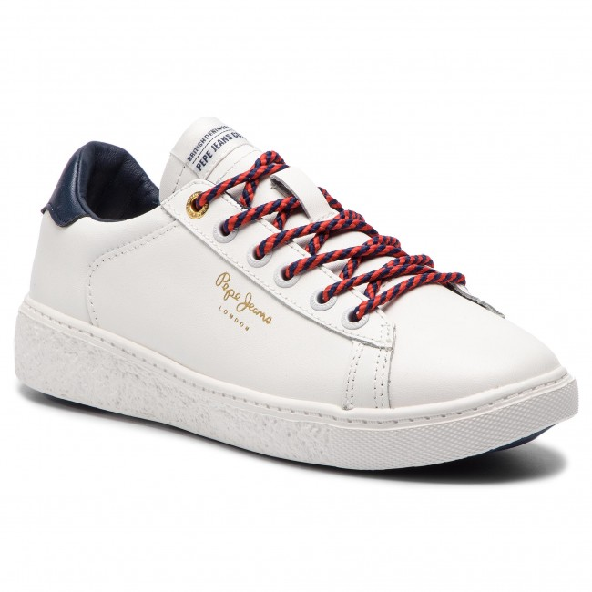 3011775273f Sneakers PEPE JEANS - Roxy Premium PLS30856 White 800 - Sneakers ...