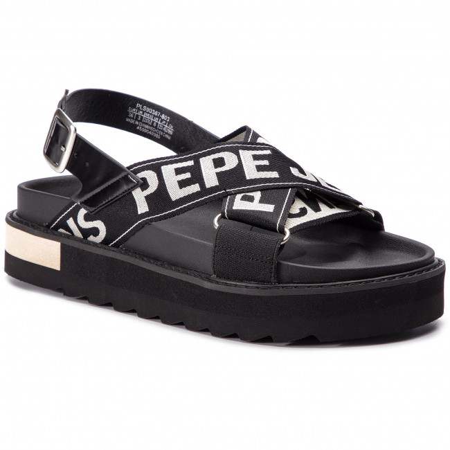 Sandals Pepe Jeans Narita Folk Pls90387 Off White 803 Wedges Mules And Sandals Women S Shoes Efootwear Eu