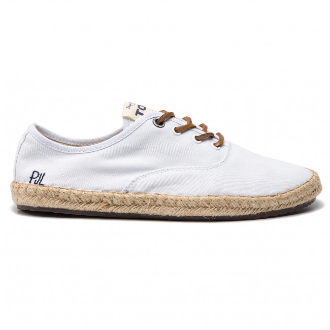 Twill Pepe Pms10258 Factory Espadrilles Jeans Er Tourist White 76bYfygv