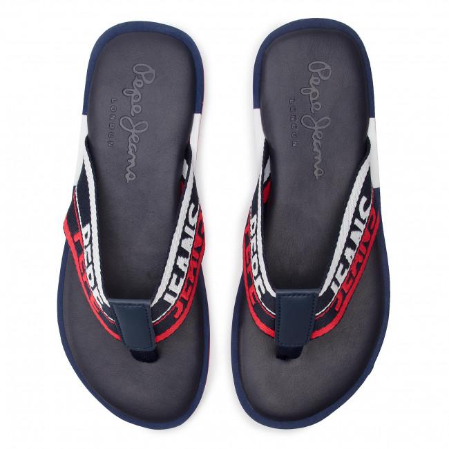Slides PEPE JEANS - Barrel Tape PMS90063  Navy 595 - Flip-flops - Mules and sandals - Men's shoes