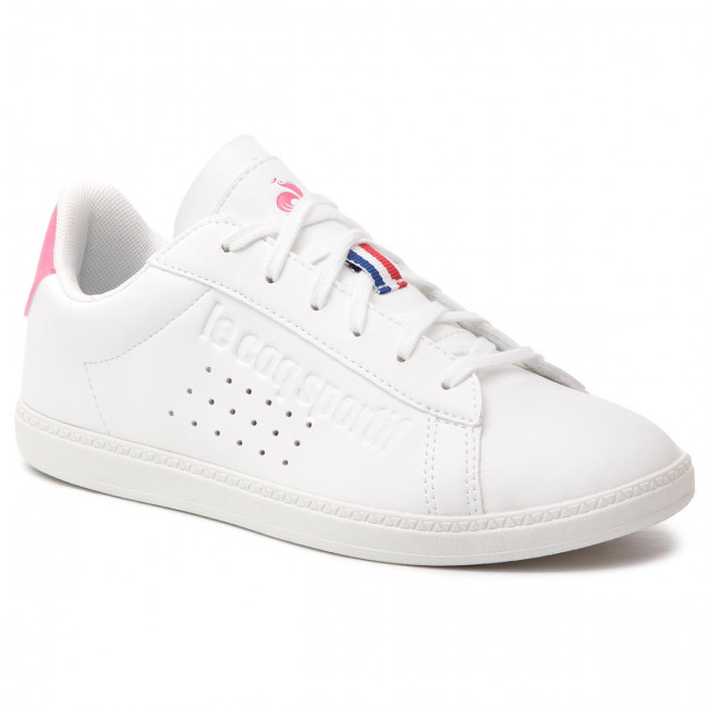 Sneakers LE COQ SPORTIF - Courtset Gs Sport 1910155 Optical White/Pink Carnation