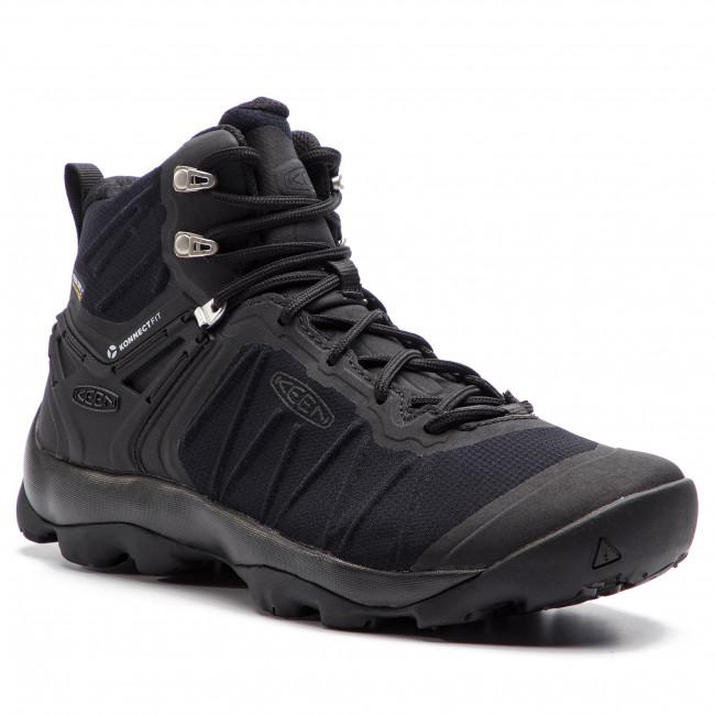 Trekker Boots KEEN - Venture Mid Wp 1021168 Black/Black