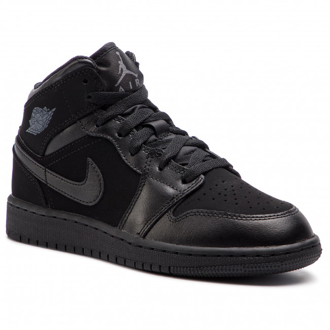official photos edecb 65a3e Shoes NIKE - Air Jordan 1 Mid (GS) 554725 050 Black/Dark Grey/Black