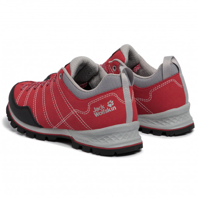 buy good differently nice shoes Trekker Boots JACK WOLFSKIN - Scrambler Low W 4036671 Red/Light Grey