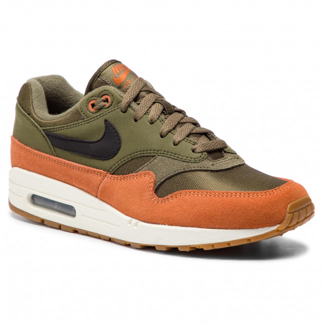 the best attitude 1042d 90658 Shoes NIKE - Air Max 1 AH8145 301 Olive Canvas/Black/Dark Russet