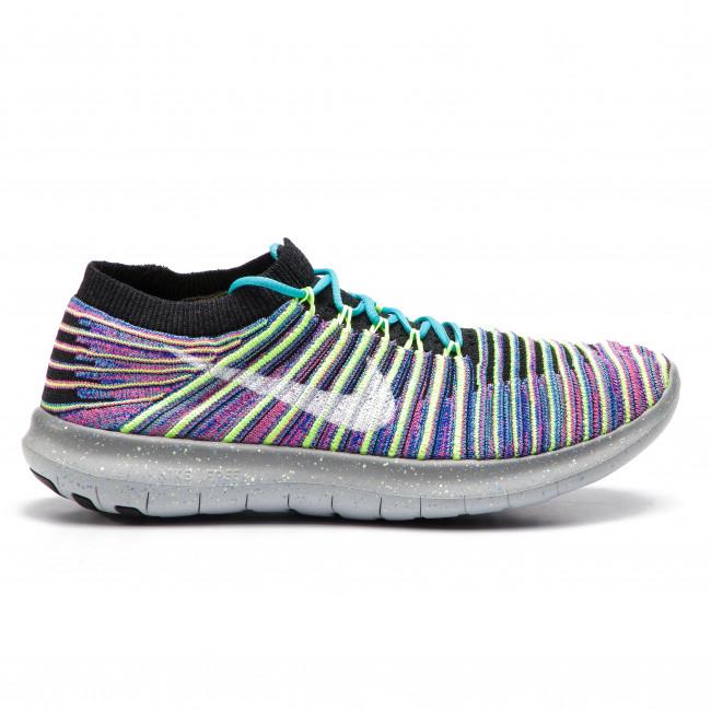 tani duża obniżka informacje o wersji na Shoes NIKE - Free Rn Motion Flyknit 834585 006 Black/White/Racer Blue